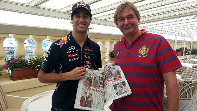 "Daniel Ricciardo mit ""Krone""-Reporter Richard Köck (Bild: ""Krone"")"