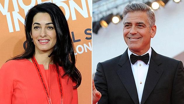 Eine Anwältin hat es George Clooney angetan. (Bild: APA/EPA/FACUNDO ARRIZABALAGA, EPA)
