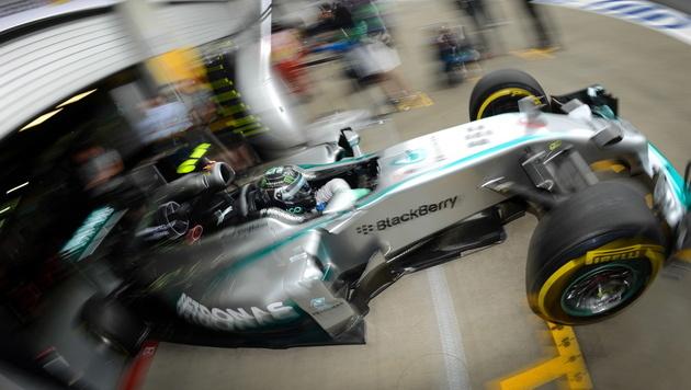 Nico Rosberg in der Box (Bild: EPA)