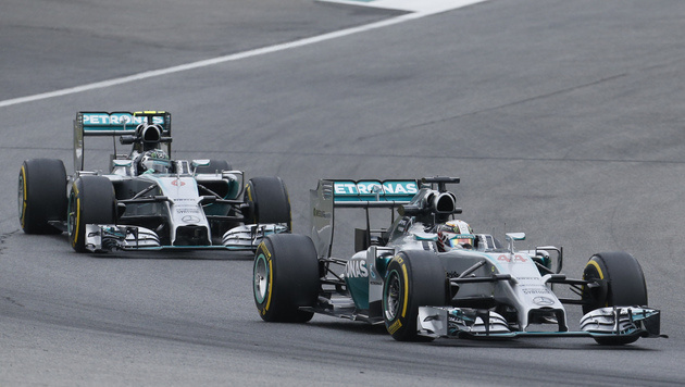 Nico Rosberg und Lewis Hamilton (Bild: Darko Bandic)