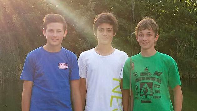 Die drei couragierten Retter Philipp, Stefan und Daniel (Bild: Franz Streimelweger)