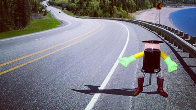 Roboter soll ganz Kanada als Anhalter durchqueren (Bild: hitchbot.me)