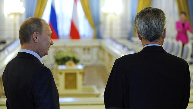 Bei Fischers letztem Staatsbesuch in Russland 2011 (Bild: APA/Hans Klaus Techt)
