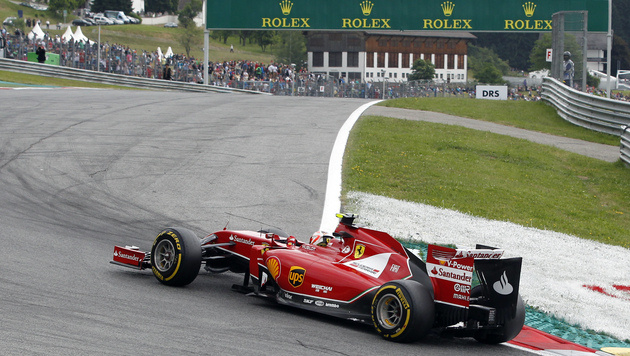 Kimi Räikkönen im Ferrari (Bild: AP)