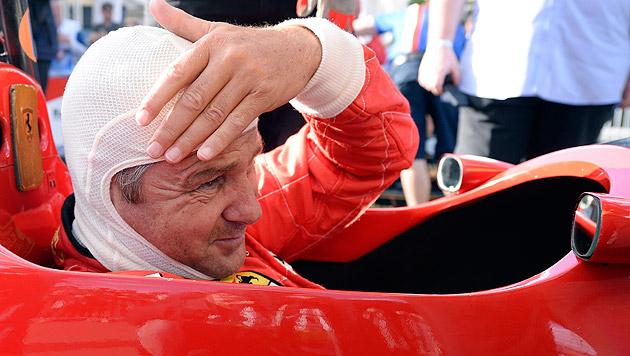 Gerhard Berger wagte sich für die Legendenparade wieder ins Cockpit. (Bild: APA/HANS KLAUS TECHT)