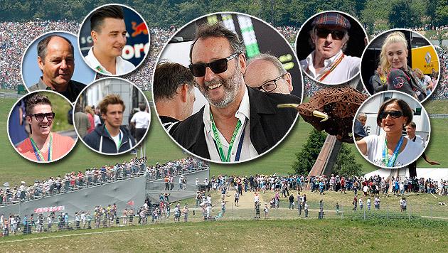 Star-Auflauf rund um Jean Reno in Spielberg (Bild: APA/EPA/SCHERIAU, APA/EPA/TECHT, APA/Schneider)