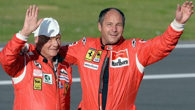 Niki Lauda und Gerhard Berger (Bild: APA/ERWIN SCHERIAU)