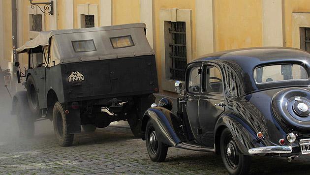 """Die """"Woman in Gold""""-Crew filmt mitten in Wien (Bild: Alexander Tuma)"""