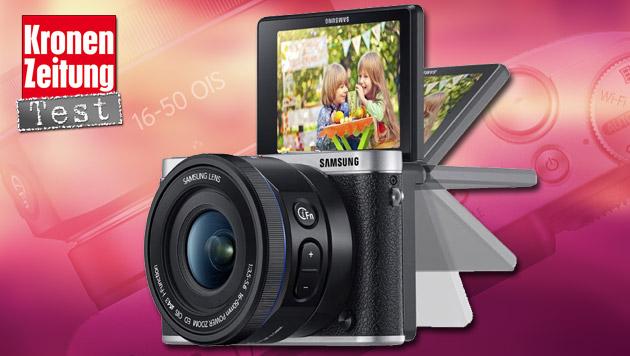 NX3000: Samsungs Selfie-Systemkamera im Test (Bild: thinkstockphotos.de, Samsung, krone.at-Grafik)