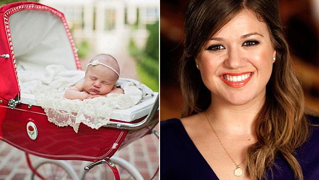 Kelly Clarkson zeigt ihr Töchterl. (Bild: twitter.com/kelly_clarkson, AP)