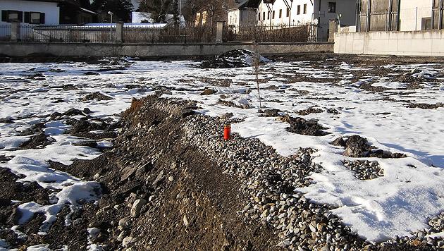 Auf diesem Feld nahe der Psychatrie des LKH in Hall wurden die Überreste von 228 Menschen entdeckt. (Bild: APA/NINA HEIZER)