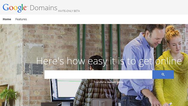 Google steigt ins Internetadressen-Geschäft ein (Bild: domains.google.com)