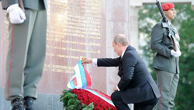 Putins Blitzbesuch: Brücken, Kanäle und Pipelines (Bild: APA/EPA/Hans Punz)