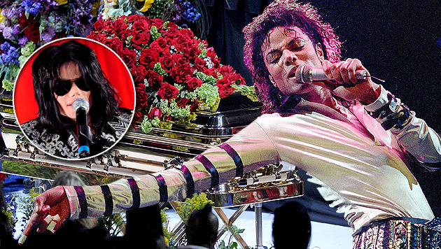Vor fünf Jahren starb Michael Jackson (Bild: KEVORK DJANSEZIAN/EPA/picturedesk.com, EPA, AP, krone.at-Grafik)