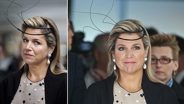 """Königin Maxima mit """"Fühlern"""" auf Staatsbesuch (Bild: APA/EPA/JERRY LAMPEN)"""