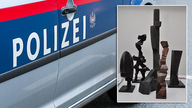 Skulpturen aus Galerien gestohlen - Täter gefasst (Bild: Andreas Graf, APA/POLIZEI)