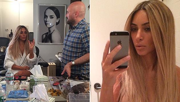 """Auf Instagram enthüllt Kim: """"Es ist nur eine Perücke!"""" (Bild: instagram.com/kimkardashian)"""
