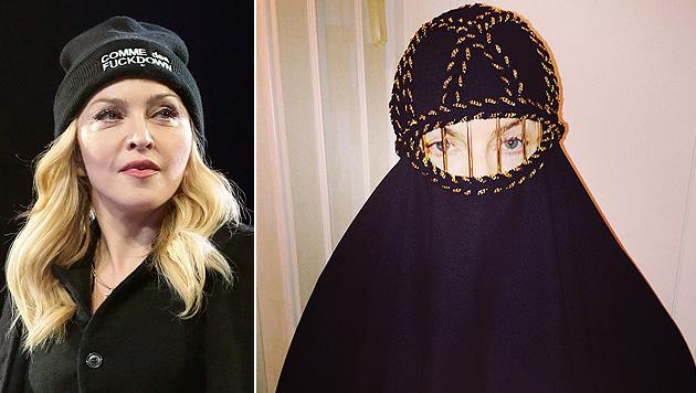 Madonna provoziert Shitstorm mit Burka-Foto (Bild: APA/EPA/JASON SZENES, instagram.com/madonna)