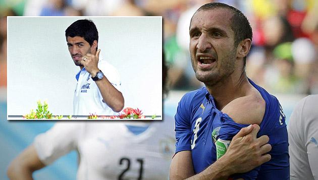 Suarez 2 Jahre nach Beißattacke wieder für Uruguay (Bild: APA/EPA/EMILIO LAVANDEIRA JR, APA/EPA/NEY DOUGLAS)