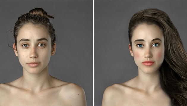 Frau ließ sich in 25 Ländern photoshoppen (Bild: estherhonig.com)