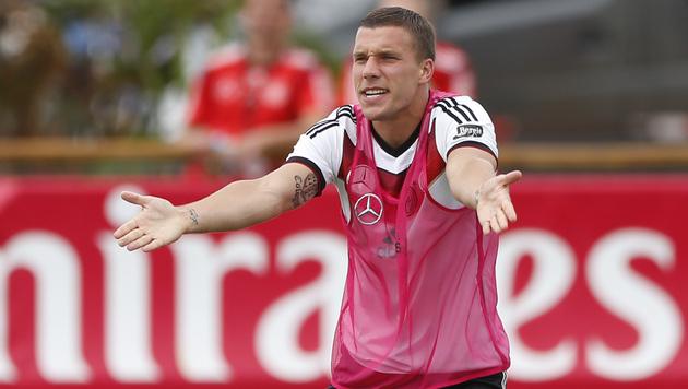 Rücktritt - Podolski hat genug vom Nationalteam (Bild: AP)