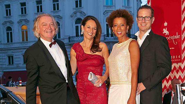 Peter Hofbauer, Vera Russwurm, Arabella Kiesbauer und Florens Eblinger. (Bild: Alexander Tuma)
