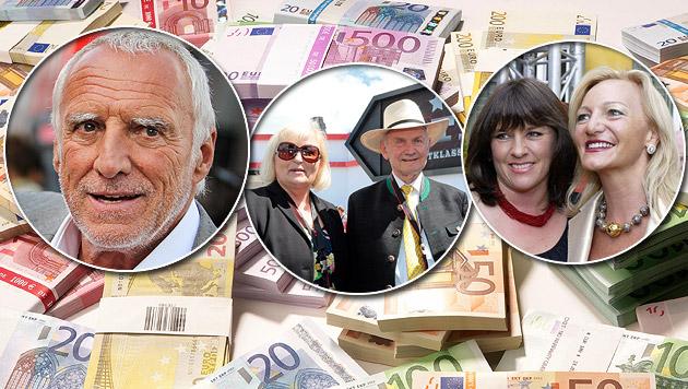 Die 100 reichsten Österreicher besitzen 160 Mrd. € (Bild: APA, thinkstockphotos.de)