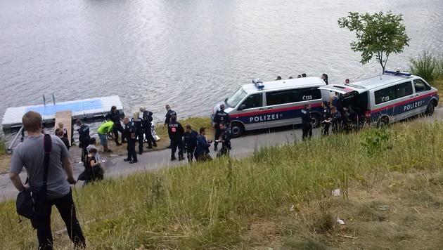 Kurze Aufregung: Eine 14-Jährige stieß einen jungen Mann in die Donau. (Bild: Amer Albayati)