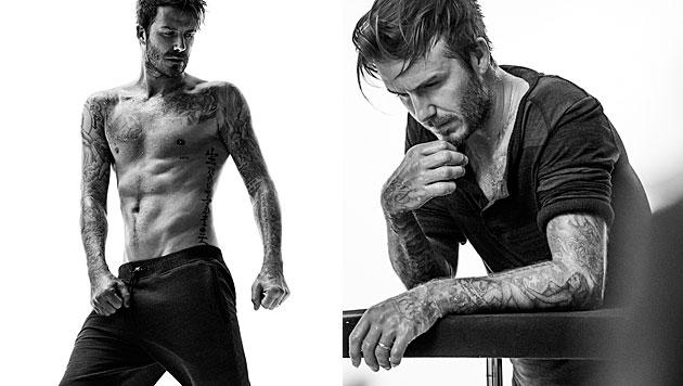 Bei David Beckhams Sixpack werden Frauen schwach. (Bild: H&M)