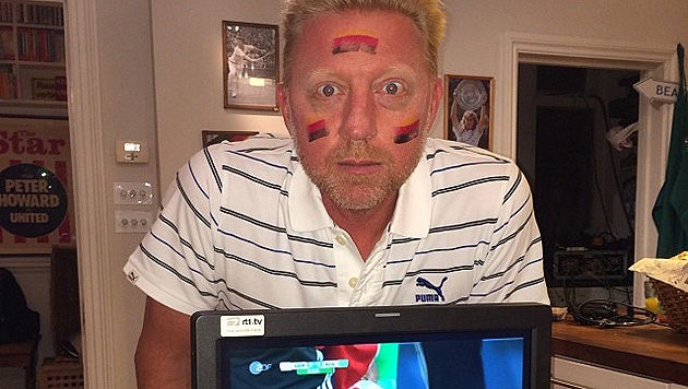 Peinlich: Boris Becker stellt Flagge auf den Kopf (Bild: instagram.com/borisbeckerofficial)