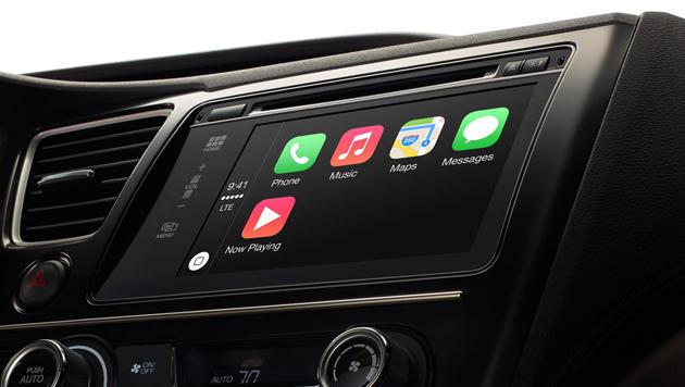 Apple und Google buhlen um Gunst der Autobranche (Bild: apple.com/ios/carplay/)