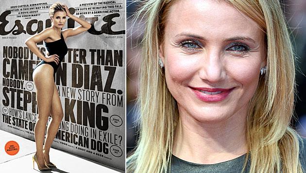 """Cameron Diaz fände Sex mit Barrymore """"zum Kotzen"""" (Bild: Esquire, APA/EPA/FACUNDO ARRIZABALAGA)"""