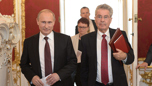 Der Besuch von Wladimir Putin im Juni war eines der großen Highlights in letzter Zeit (Bild: APA/EPA/ALEXEY NIKOLSKY/RIA NOVOSTI/K)