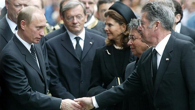 Beim Staatsbegräbnis für den Vorgänger waren zahlreiche internationale Spitzenpolitiker anwesend (Bild: APA/HANS KLAUS TECHT)