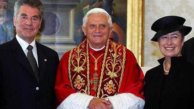 Zu Besuch bei Papst Benedikt XVI. im Vatikan (Bild: APA/Robert Jaeger)