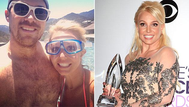 Britney Spears kuschelt Trennungsgerüchte weg (Bild: instagram.com/britneyspears, APA/EPA/NINA PROMMER)