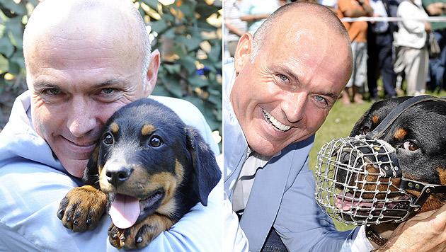 """50 Jahre Militärhunde: Klug ist Pate von """"Spiro"""" (Bild: APA/BUNDESHEER/GUNTER PUSCH)"""