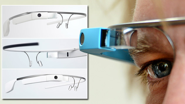 Google Glass: So fühlt sich die Datenbrille an (Bild: APA/dpa-Zentralbild/Jens Kalaene, Google)