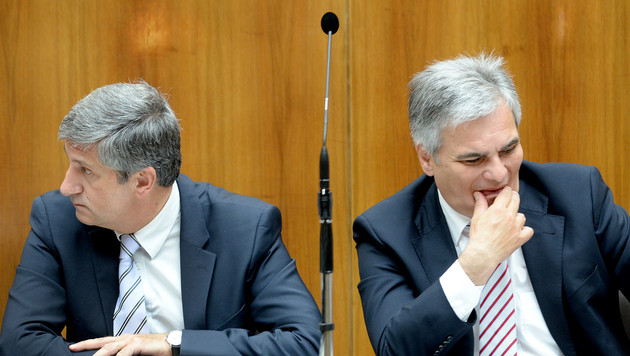 Steuern und Budget: Koalition jetzt auf Crashkurs (Bild: APA/ROLAND SCHLAGER)