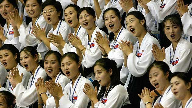 Nordkoreanische Cheerleader