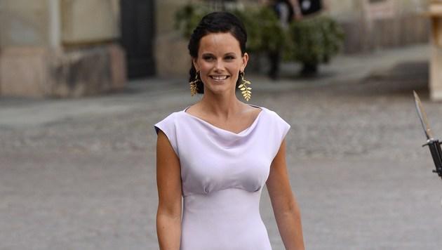 Sofia Hellqvist: Hochzeit der Dessous-Prinzessin (Bild: AFPJONATHAN NACKSTRAND)
