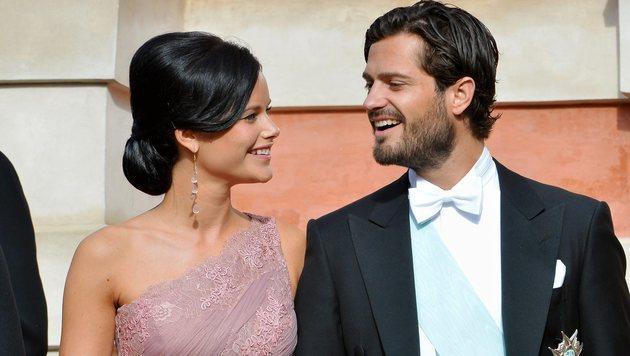 Sofia Hellqvist: Hochzeit der Dessous-Prinzessin (Bild: AP JONAS EKSTROMER)