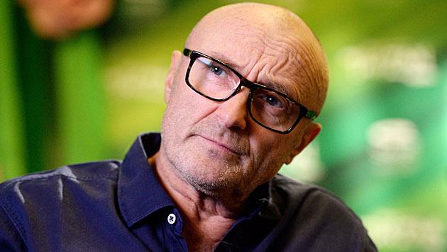 Sturz am Weg zum WC: Phil Collins sagt Konzerte ab (Bild: APA/EPA/DPA/BERND WEISSBROD)