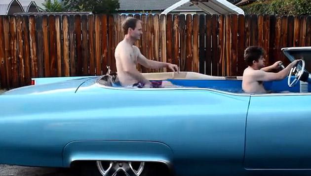 Amerikaner bauen in 1969er-Cadillac Whirlpool ein (Bild: YouTube.com)