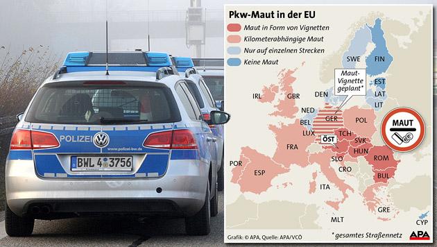 Ausländer-Maut: Polizei lehnt Kontrolle ab (Bild: APA, dpa/Patrick Seeger)