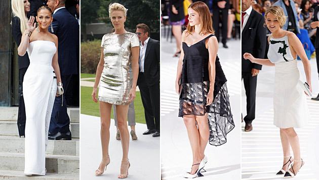Modeaffine Promis bei Haute-Couture-Shows in Paris (Bild: AP, APA/EPA/IAN LANGSDON)