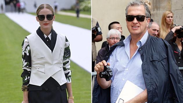 Schauspielerin Olivia Palermo und Kultfotograf Mario Testino bei Dior. (Bild: AFP, AP)