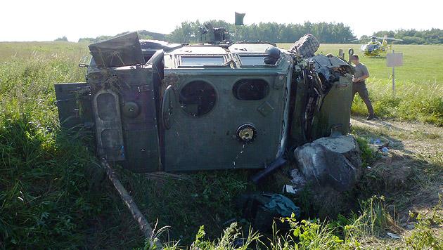 Unfall in Allentsteig: Soldat außer Lebensgefahr (Bild: APA/ÖAMTC)