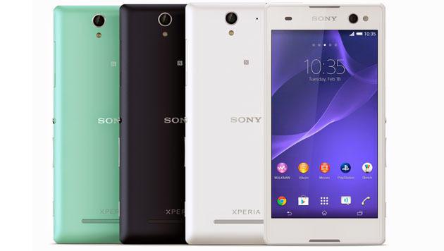 Xperia C3: Sony bringt Handy für Selfie-Liebhaber (Bild: Sony)