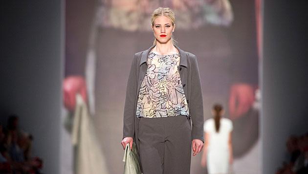 Larissa Marolt lief bei der Berlin Fashion Week für Minx über den Catwalk. (Bild: APA/dpa)